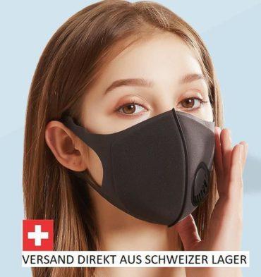 Atemschutzmaske wiederverwendbar & bequem